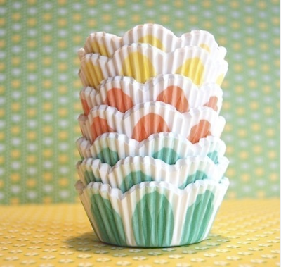 Assorted pretty pastel tulip cupcake liners by Cupcake Social