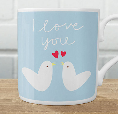 Love bird mugs by Showler and Showler