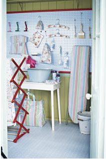 Spot blue Cath Kidston floor tiles by harveymaria