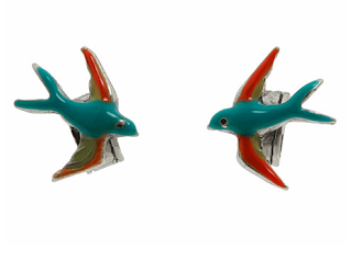 Bird stud earrings by Lucky Brand