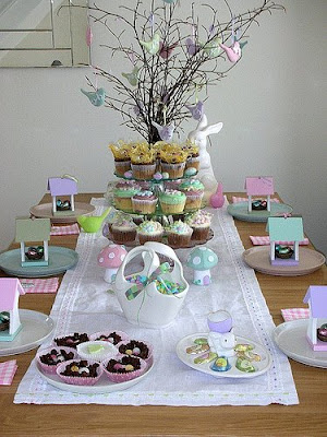 Easter table setting, table scape