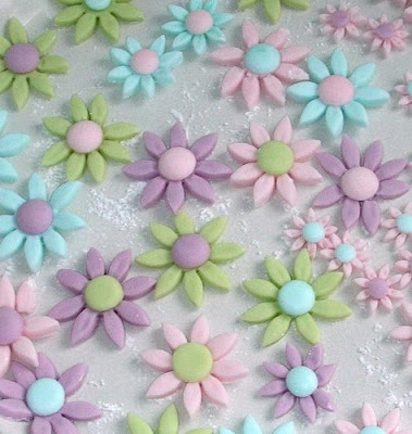 Easter fondant flowers