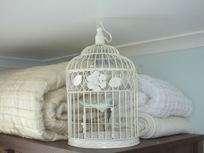 Bird cage on wardrobe