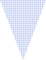 Blue gingham bunting
