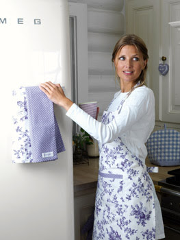 Apron and tea towels by Green Gate