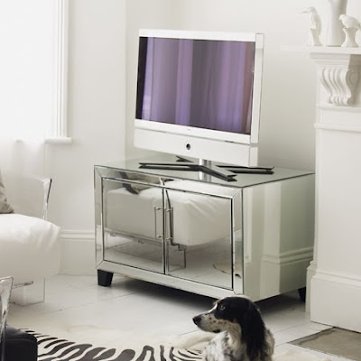 Two door mirror media cabinet from Graham & Green