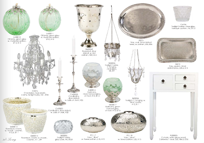 Green and silver accessories for the home from Lisbeth Dahl