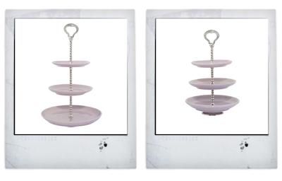 Lisbeth Dahl lavender cake stands