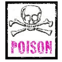 Poison cake label