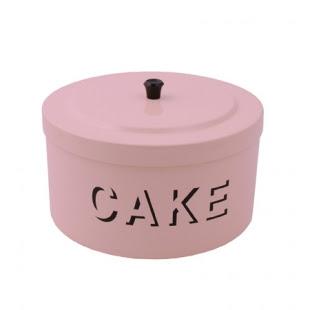 Pink enamel cake tin from Pod