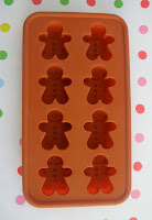 Gingerbread man ice cube tray