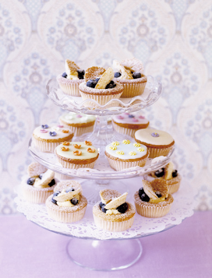 Cupcake stand photograph by Polly Wreford