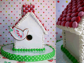 Gingerbread birdhouse by Torie Jayne