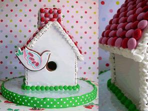 Gingerbread birdhouse by Torie Jayne