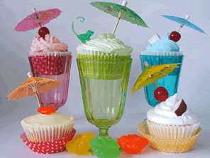 Cocktail cupcakes by Torie Jayne