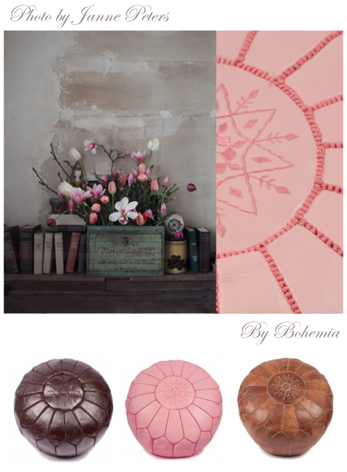 Bohemia Moroccan leather pouffe Giveaway