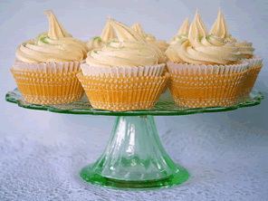 Gluten-free lemon cream cupcakes by Torie Jayne
