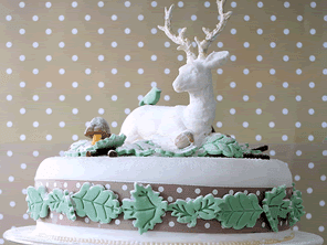 Winter Woodland gluten-free Christmas cake by Torie Jayne