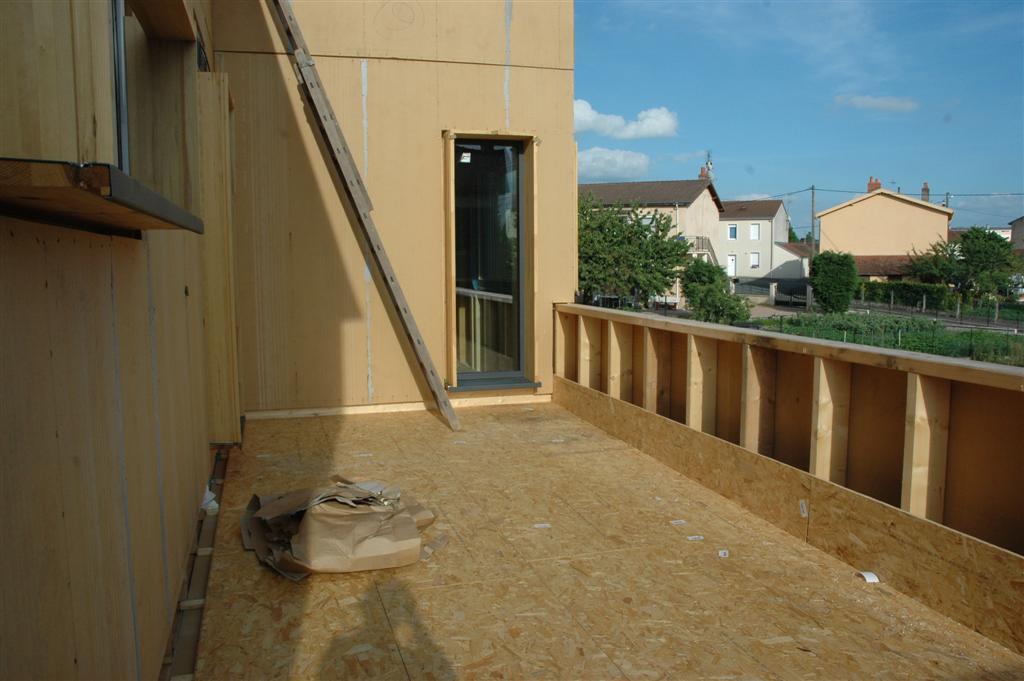 à ossature bois à Montchanin Etanchéité de la toiture terrasse