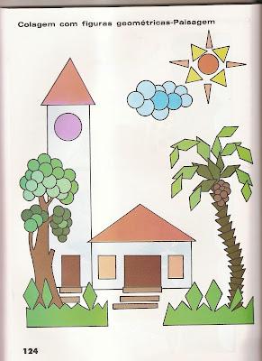 ARTES3 Arte : Recorte e colagem com figuras geométricas. para crianças