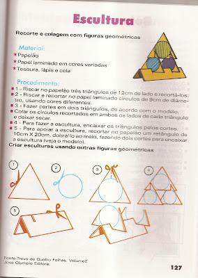 ARTES6 Arte : Recorte e colagem com figuras geométricas. para crianças