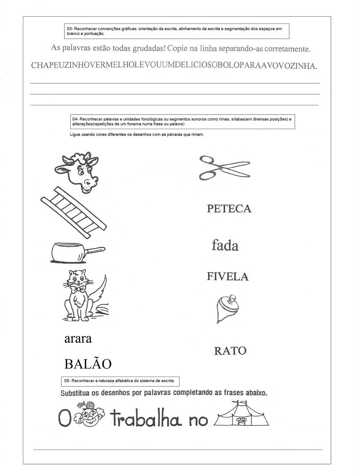 MODELO DE AVALIA    O DIAGN  STICA PARA 1   ANO