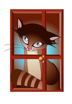 ablak cica néz window cat watch