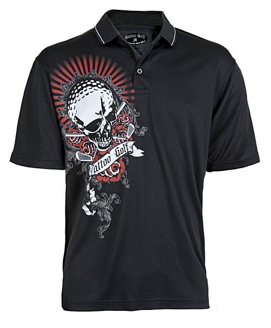 Tattoo golf apparel brett hull sporting tattoo golf for Donald trump tattoo shirt