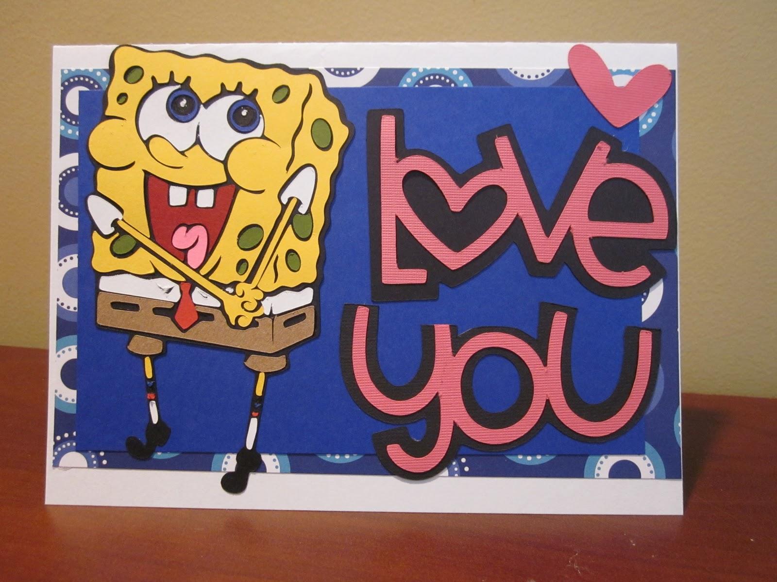 spongebob valentines cricut cardz challenge 59