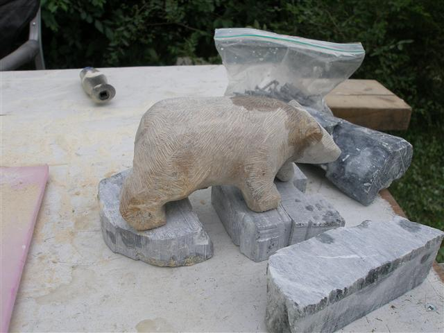 Tia soapstone carving workshop with john sabourin
