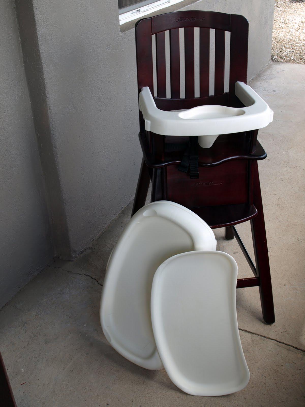 Real wood eddie bauer high chair