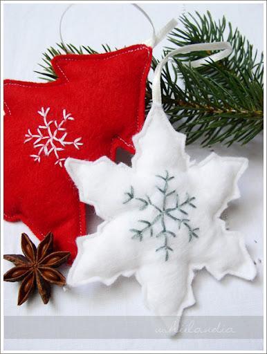 Christmas ornaments made of felt, ozdoby choinkowe, świąteczne dekoracje, z filcu, na choinkę, Boże Narodzenie, DIY, tutorial, zrób to sam,