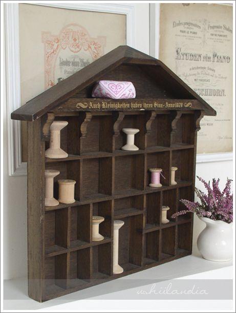 stary domek adwentowy - do craft kącika / vintage advent calendar