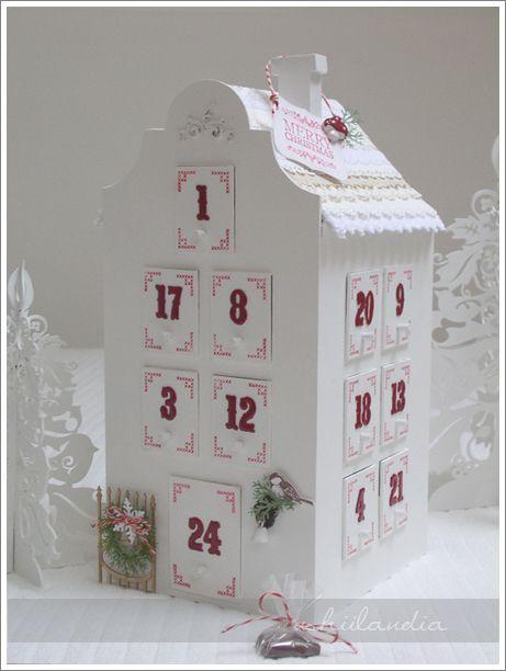 domek - kalendarz adwentowy z szufladkami (wzór własny)