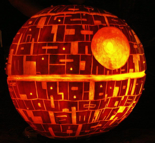 Death Star Pumpkin Cool Halloween Pumpkin Jack O Lanterns Designs Pictures Seen on www.VyperLook.com