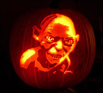 gollum pumpkin Cool Halloween Pumpkin Jack O Lanterns Designs Pictures Seen on www.VyperLook.com