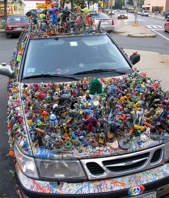 Cool Awesome Toys : Cool car covered with toys exotic cars