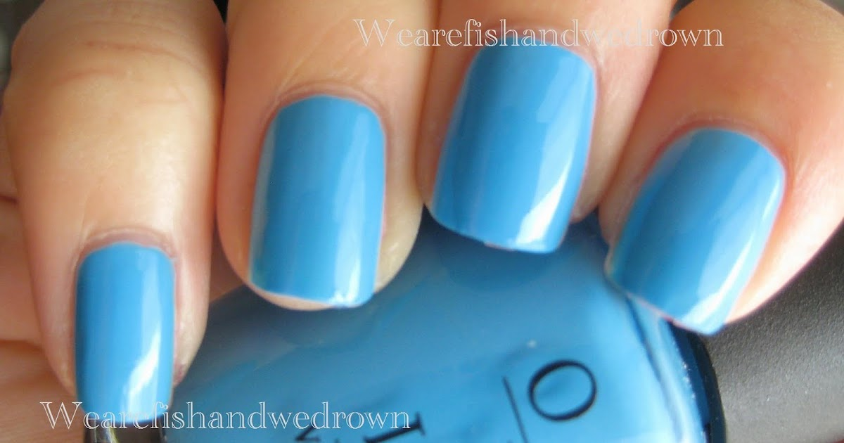 No Room For The Blues Opi Swatch