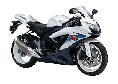 New Suzuki White  GSX-R 600CC Cool Sport