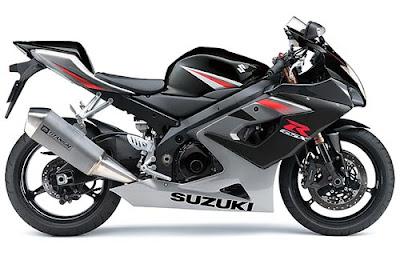 Suzuki GSX 1000R Black Sport Bike