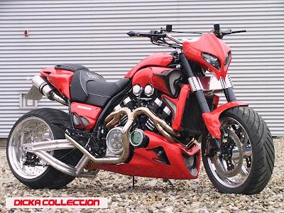 Yamaha V-Max Red ShotGun Techno Bike 2