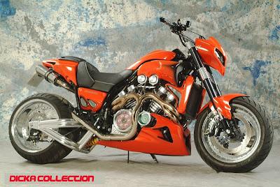 Yamaha V-Max Red ShotGun Techno Bike 3