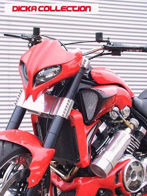 Yamaha V-Max Red ShotGun Techno Bike 1
