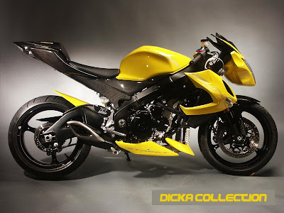 Suzuki GSXR 1000 Yellow Extreme Topgun Street Fighter 3