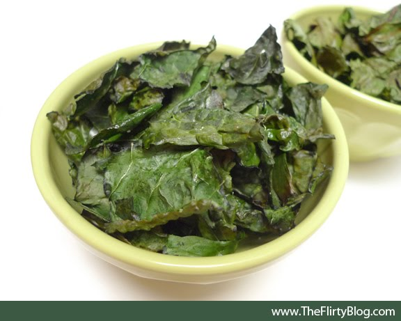 ... The Flirty Blog): Baked Kale Chips... A Delicious and Healthy Snack