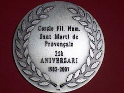 Medalla 25 anys donada per FECAFIL