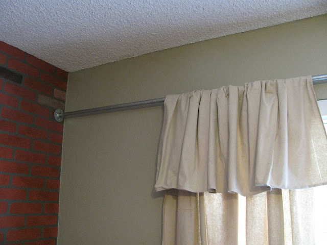 diy curtains, diy painting curtains, curtains too short, thrift store makeover