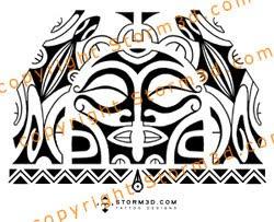 lizard polynesian tattoos tribal masks images
