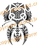 maori inspired shoulder tattoo design