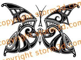tribal butterflies tattoos